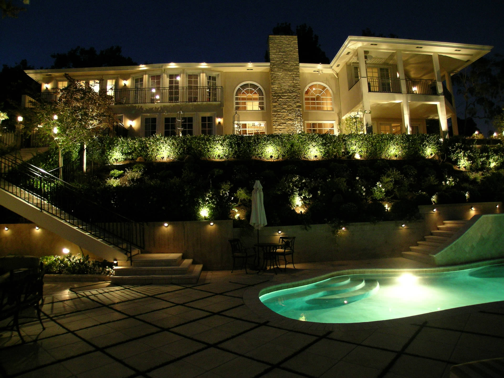 Bel Air Landscape Lighting By Artistic Illumination
