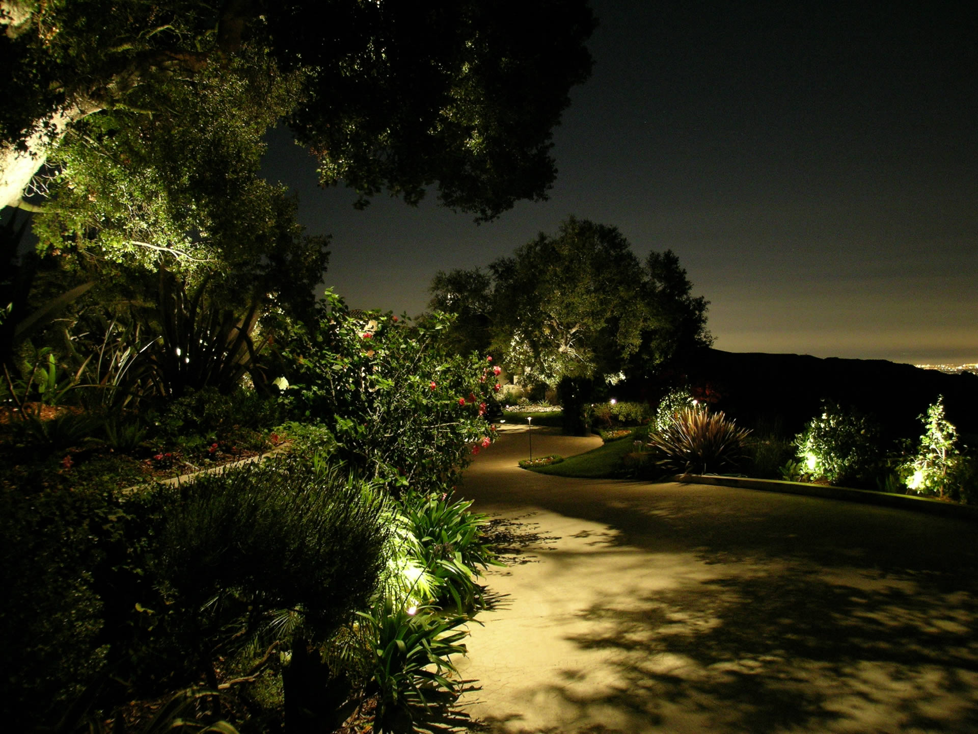 Beverly park landscape lighting by artistic illumination for Iluminar arboles jardin